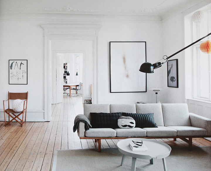 Beautiful danish apartment for Apartment design manual
