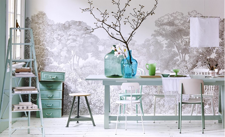 Coastal style spring inspiration in pastel colours for Pastel dining room ideas
