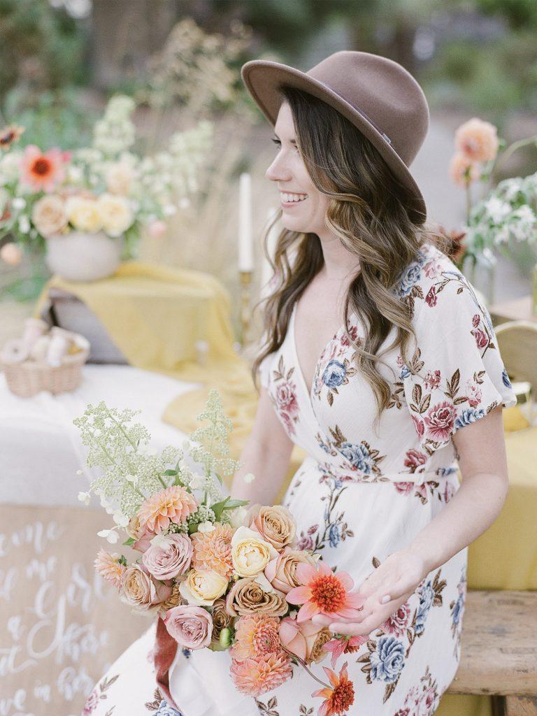 Radostina Boseva Photography Wedding Florist with colorful flowers
